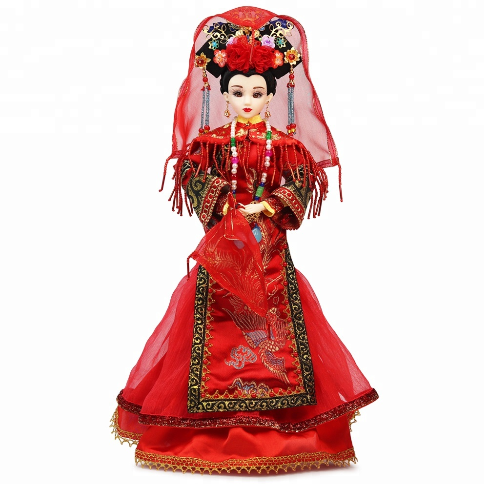 Original design 14 moveable joints action figure Chinese traditional wedding customize ball jointed <strong>dolls</strong> for collection
