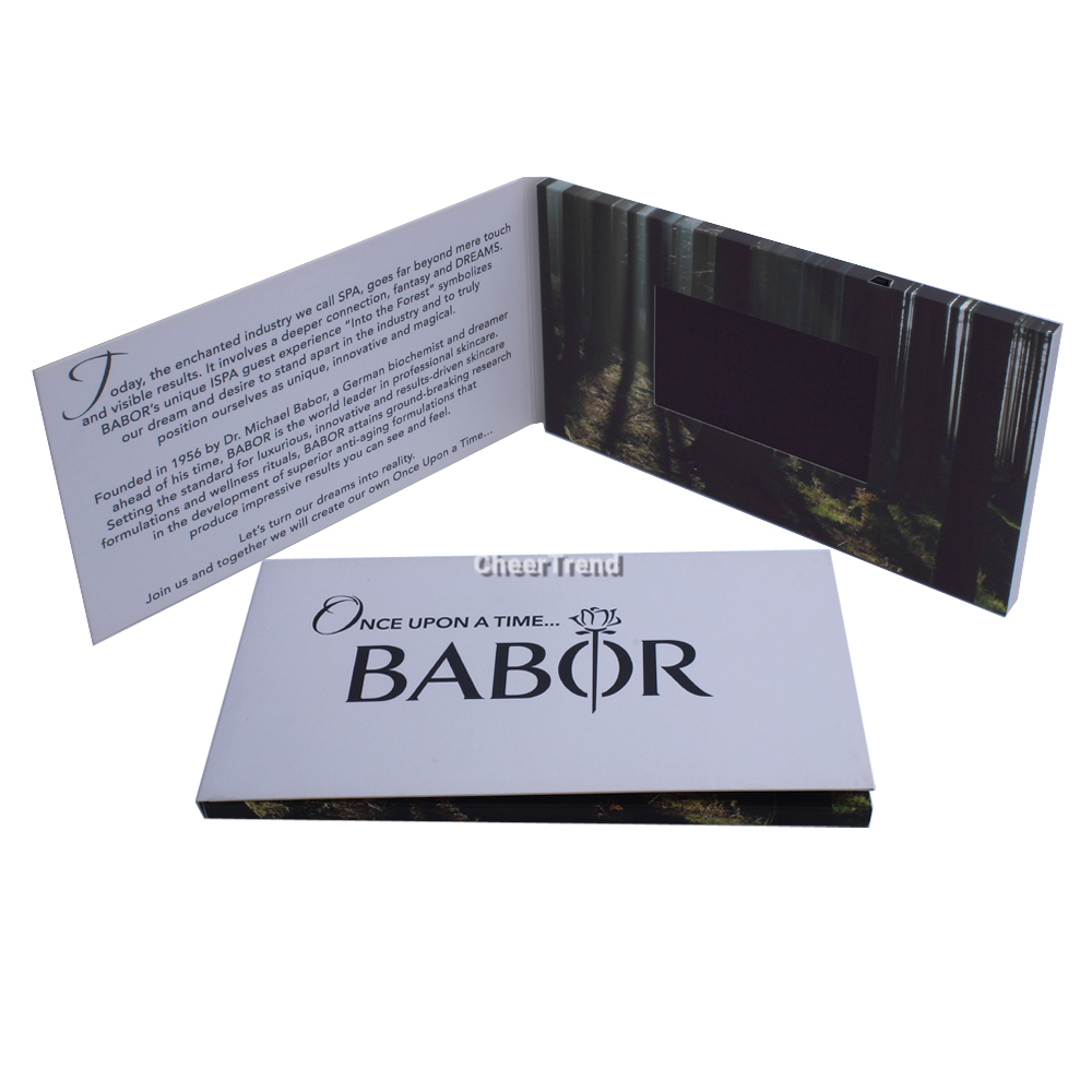 4.3 inch Lcd video mailer / video in print technology/video brochure card