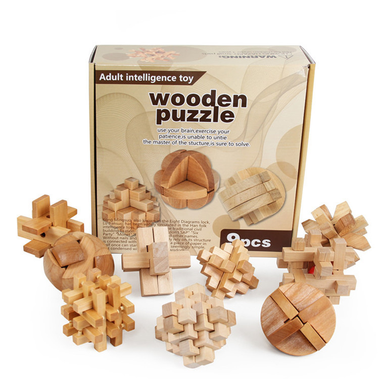 Kong Ming Luban Lock Chinese Traditional Toy Wooden Puzzles