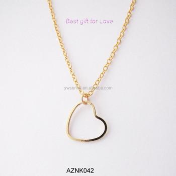 2015 Latest Best Selling Wholesale Cute 14k Girlfriend Gold Heart Pendant Necklace Buy Gold Heart Pendant Necklace Gold Heart Pendant Necklace Girlfriend Heart Pendant Necklace Product On Alibaba Com