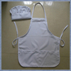 Apron Manufacturer Wholesales 100% Ployester Kids Cooking Apron and Chef Hats, White color Kids Apron and Chef Hats
