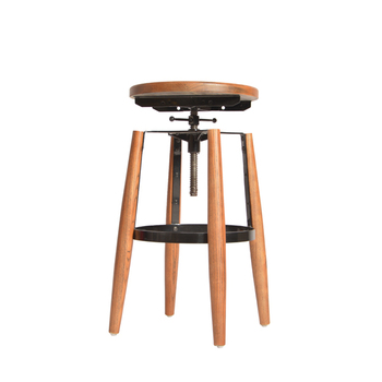 Swell Hot Sale Wooden Seat Bar Stool Round Seat Adjustable Bar Stool Buy Oak Wood Bar Stools Hot Sale Vintage Bar Stools Hot Sale Adjustable Stool Fixed Gmtry Best Dining Table And Chair Ideas Images Gmtryco