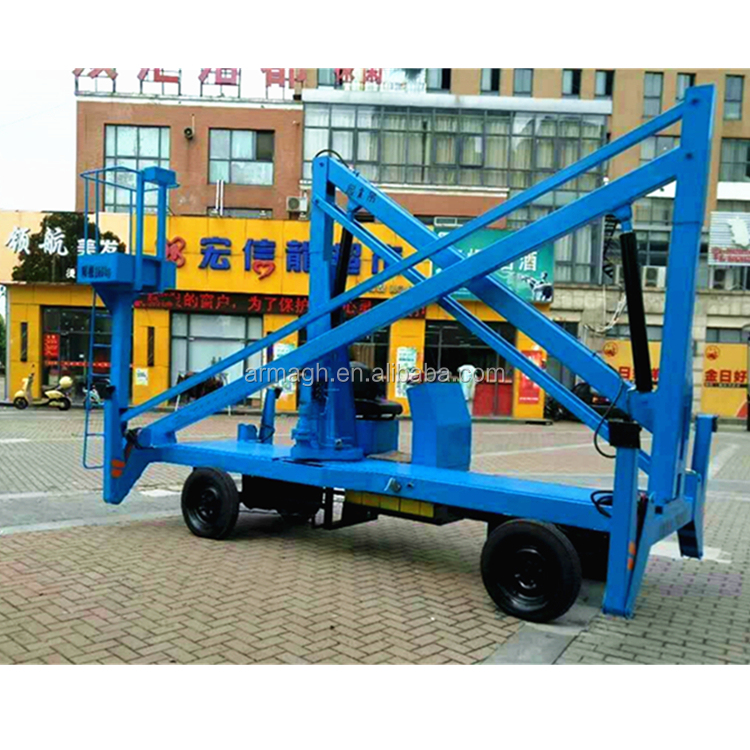 trailer mounted boom crane lift price adjustable 4 wheels scissor lift