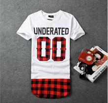 UNDERATED Bandana Men's Extended Tee Shirts Men Skateboard Element t-shirt Hip Hop tshirt Streetwear Clothing