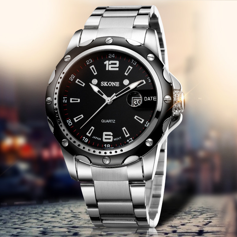 Description Cheap Stainless Steel Big Men Watch Big Wrist