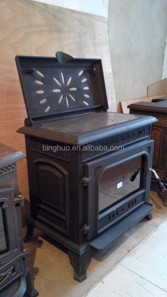 Hot Plate Wood Cook Stove Cooktop Cast Iron Wood Burning