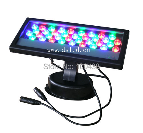 CE,3-Year warranty,high power 36W DMX LED RGB wall washer, outdoor IP65,110-250VAC,DS-T03-36W-RGB-DMX,