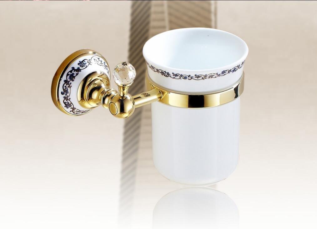 European antique toilet brush holder set,gold rose gold copper black toilet brush holder set,toilet brush holder,toilet seat Cup holder,Blue and white porcelain toilet brush-zirconium-gold