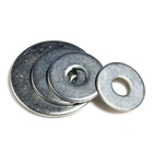 Grade4.8 carbon steel blue galvanized flat washers