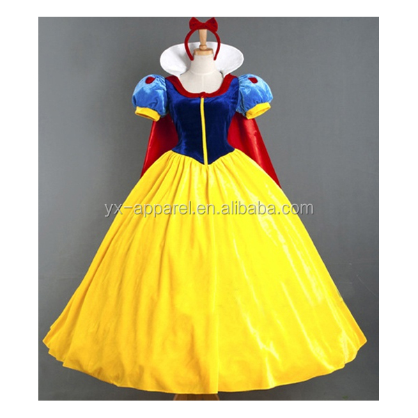 Nuovi elementi adulti cosplay principessa belle cenerentola dress costume