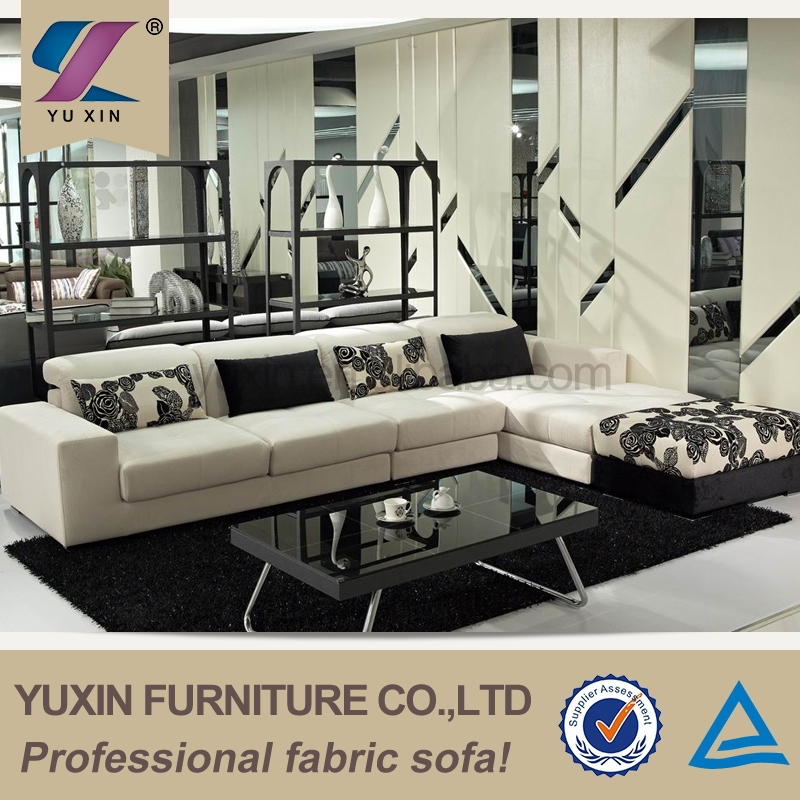 foshan used home furniture large sofa set two color furniture