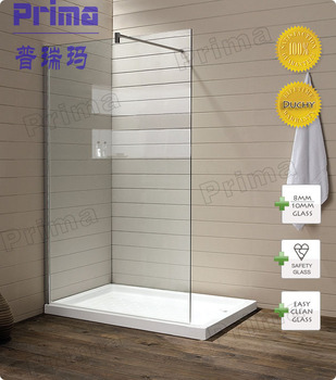 For Resell Glass Shower Enclosure By Acrylic Base Plate Tempered Glass  Clear Panel Stainless Steel Wall