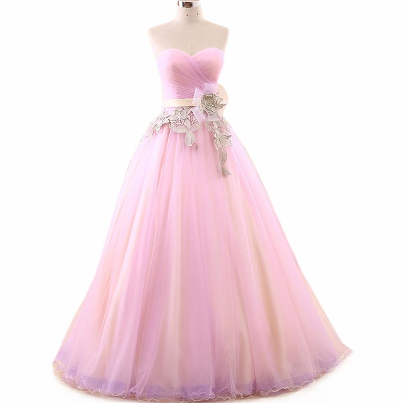 Venta al por mayor vestidos noche rosa clara-Compre online los ...