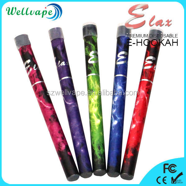 High quality colorful huge vapor 500 puffs elax e hookah malaysia