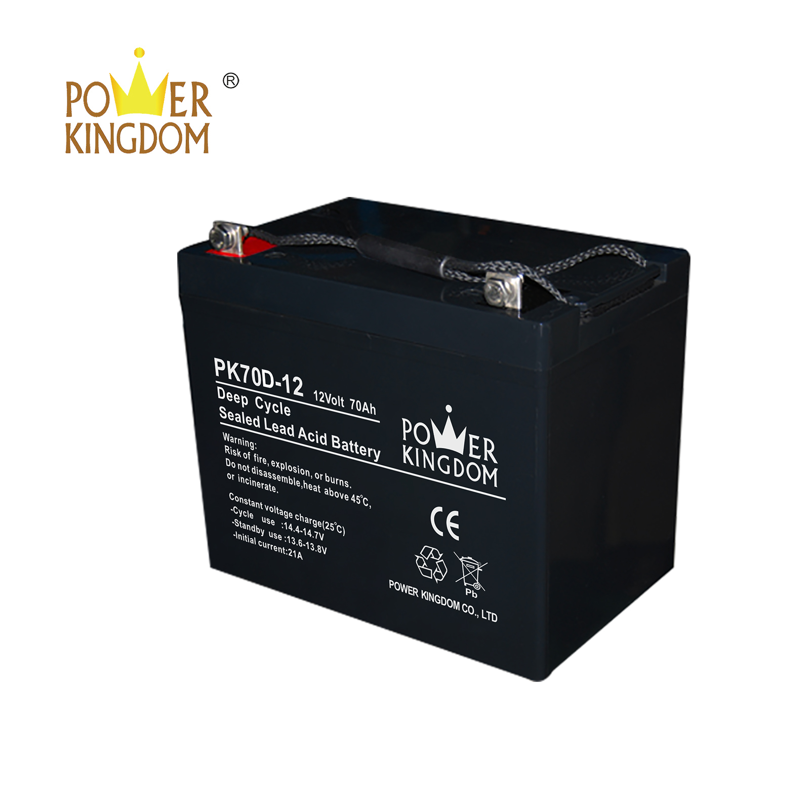Power Kingdom battery 12 volt deep cycle company vehile and power storage system-2