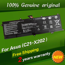 Free shipping C21-X202 Original laptop Battery For Asus VivoBook S200 S200E S200L X201 X201E X202E 7.4V 38WH