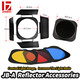JINBEI Universal Barndoor with 3 Color Filter Gels Kit for Studio Strobe Flash Light Match with Bowens Reflectors