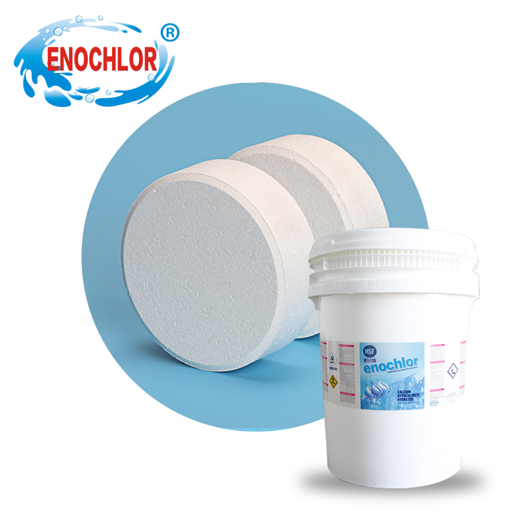 swimming pool treatment chemical calcium hypochlorite 65% tablet dry chlorine