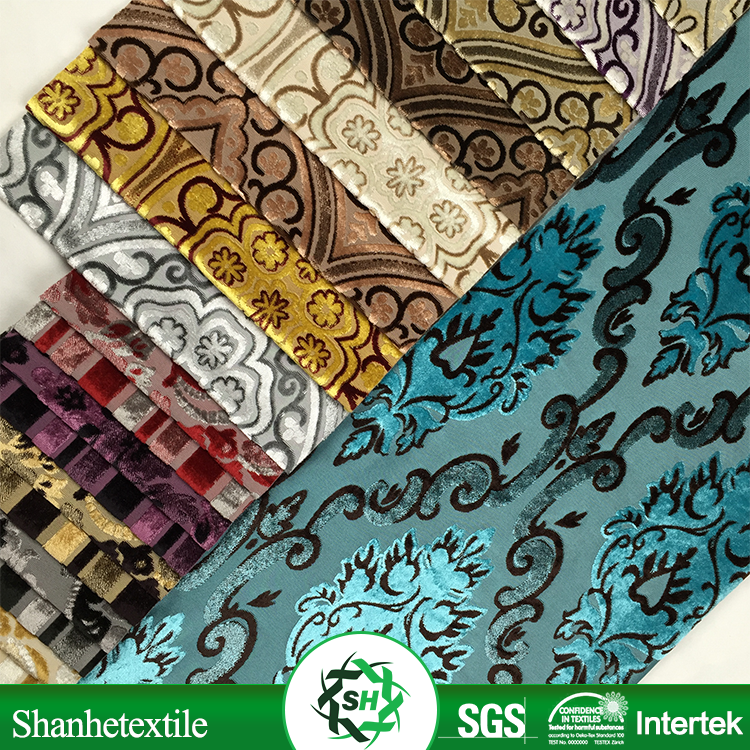 damask chenille embroidery curtain fabric