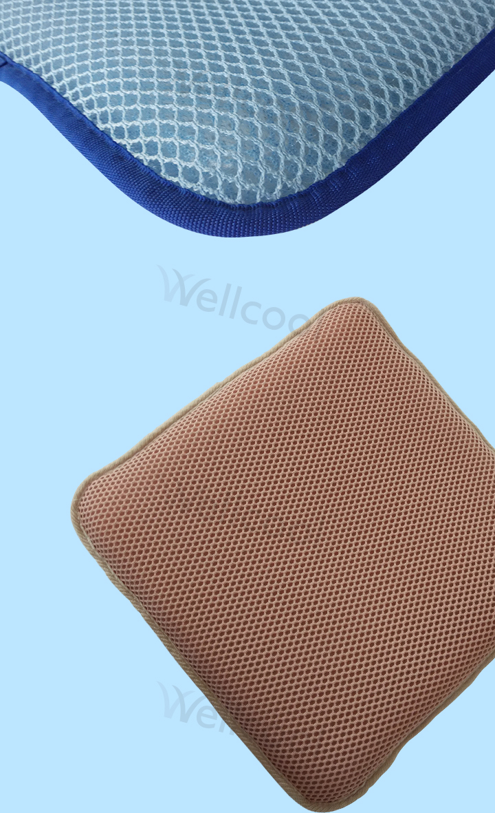 Breathable cooling 3d sandwich mesh fabric chair seat cushions for manufacturer