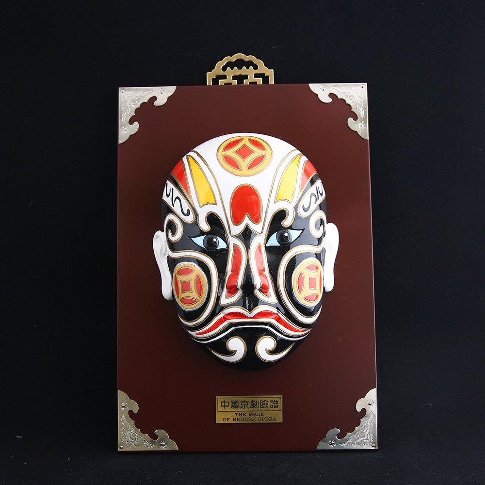 resin Chinese style opera face home decoration for sale, resin Peking Opera face gifts