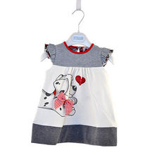 New Summer Toddler Baby Girls A-Line Lovely Dogie Printed Bow-knot Dresses Girl Kids One-piece Dress Braces 1-5Y