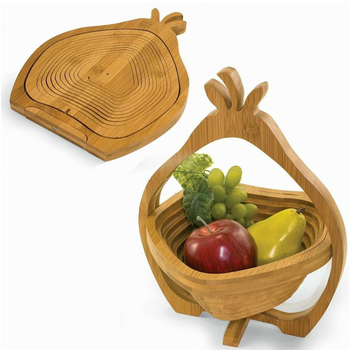 Bamboo Fruit Basket and Bamboo folding wooden fruit basket