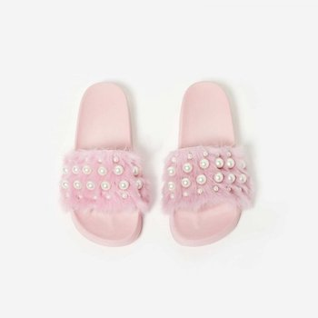 bf795ef4637 China supplier 2018 latest design women shoes ladies slide sandal Fur slide  pink fluffy slippers