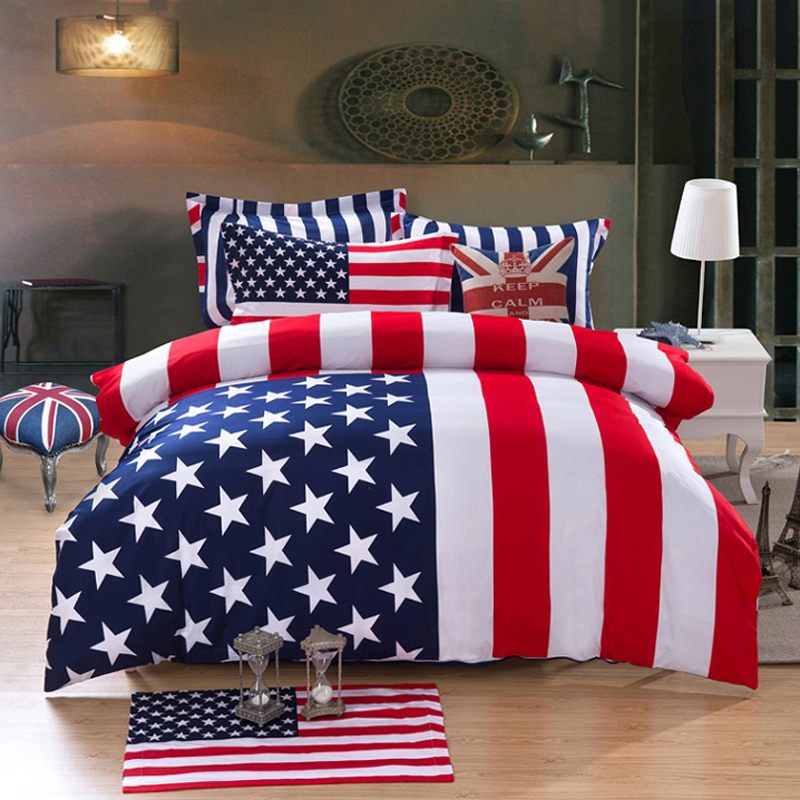 amerikanische flagge bettw sche kaufen billigamerikanische flagge bettw sche partien aus china. Black Bedroom Furniture Sets. Home Design Ideas