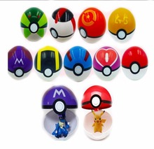 Different Style Plastic Super Anime Figures Balls for Pokemon Kids Toys Balls