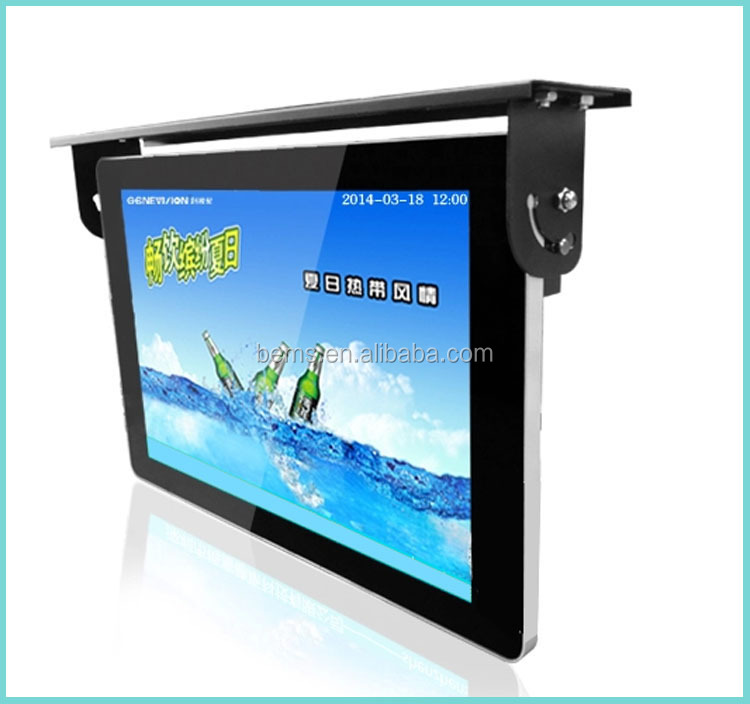 inch tft lcd flip down roof mount car tv bus monitor