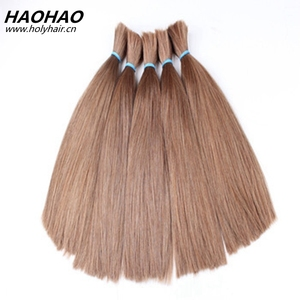 Hot selling unprocessed virgin soft and shinny virgin russian 100% human hair bulk