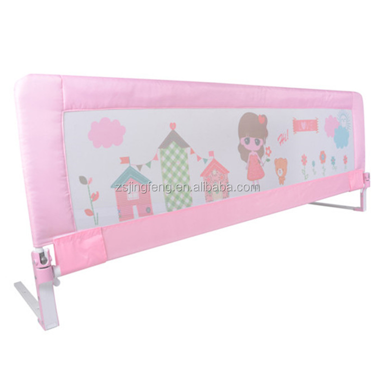 Lovely Design One Hand Foldable Baby Guard Rail Baby Bed Safety Protection Rail