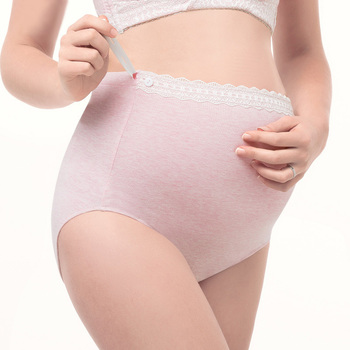 Color Cotton High Waist Women Support Abdomen Pregnant Panties Adjustable Maternity Underwear Plus Size