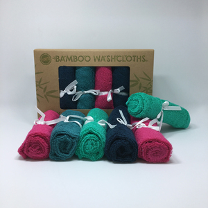 Promotion 6 Pack Organic Bamboo Baby Washcloth Stock