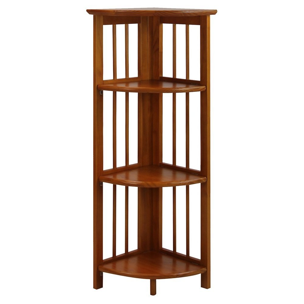 decorative office storage. Get Quotations · Folding Corner Bookcase 4 Tier Furniture Shelves Storage Home Office Room Organizer Display Stackable Rack Decorative