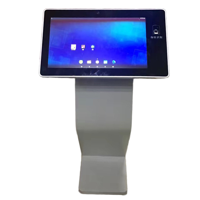 New school classroom touch screen 13.3 inch kiosk fingerprint reader with RFID