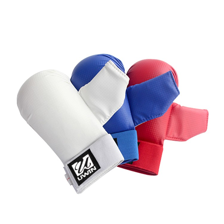 red blue color Karate Training mitts WKF Approved karate gloves