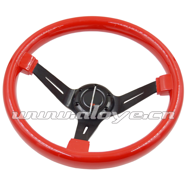 350mm Universal Deep Dish ABS Wood Steering Wheel For Modified Car
