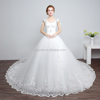 ed28987d506 Alibaba Fashion Plus Size Noble Crochet Wedding Dress Women Beaded Lace  Design Long Train Wedding Dress