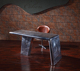 console aviator antique style industrial wing reception executive office desk