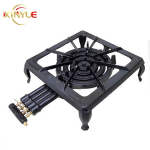 Portable Cast iron 4 ring burner gas stove with a good quality