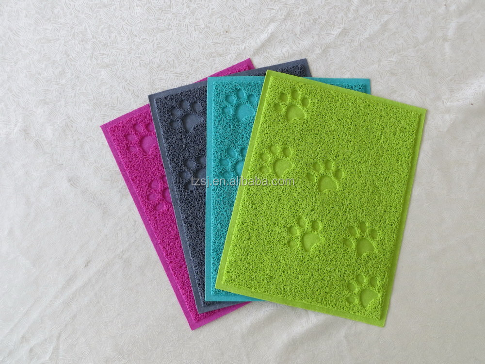 paw print litter mat for catspet toilet matpvc cat litter catcher mat