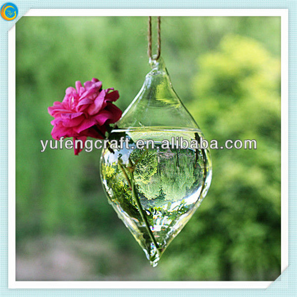 hanging glass flower vase with sight hole hot water bottle