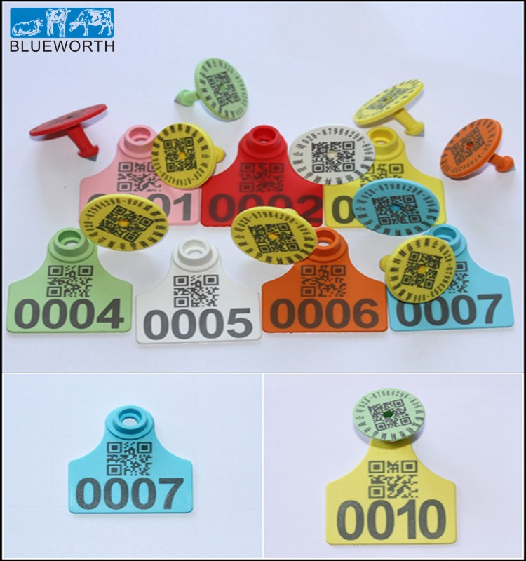 Chinese High Quality Animals Qr Codes Cattle Ear Tag Buy