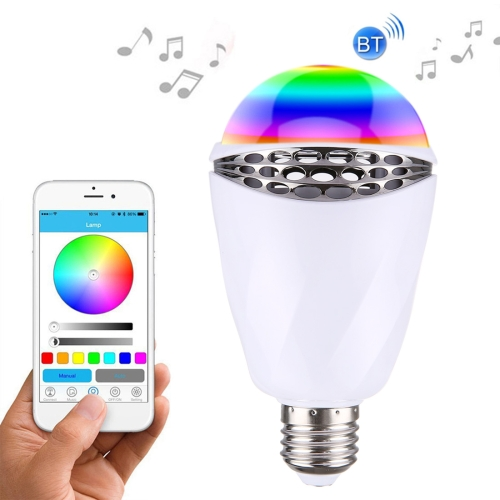 New products dropshipping E27 Bluetooth 4.0 Smart RGB LED Speaker Bulb for iPhone 4s and Later with iOS 7 and Later Version