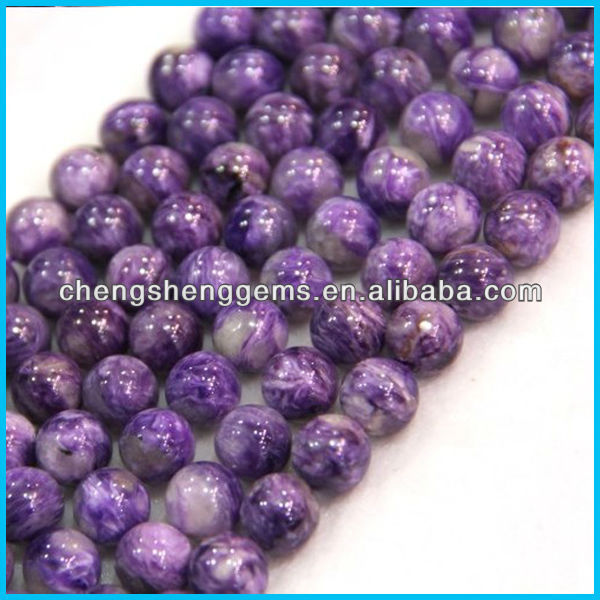 6mm round smooth AAAA Grade Russian charoite rare beads for fine jewelry design