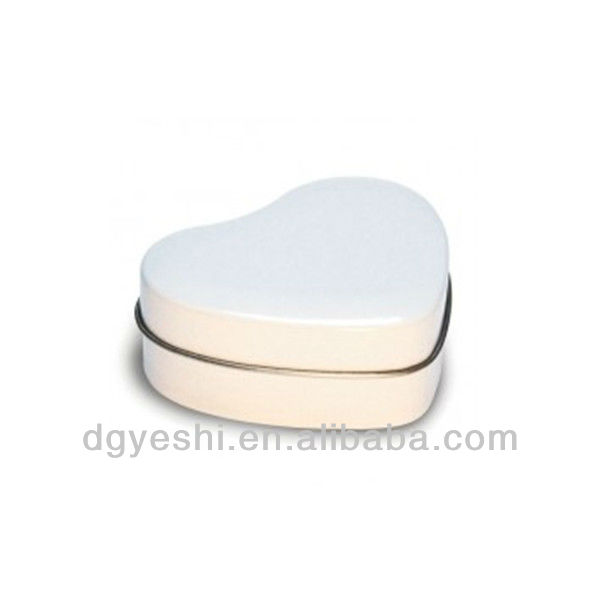 wholesale heart shape jewelry/jewellery packing tin box