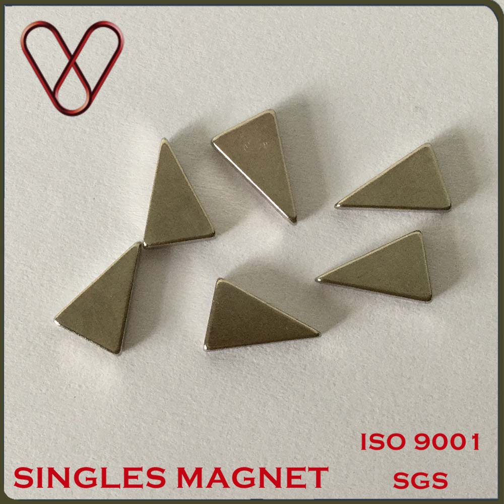 Application Decorated Permanent Triangle Shaped Neodymiun Magnet