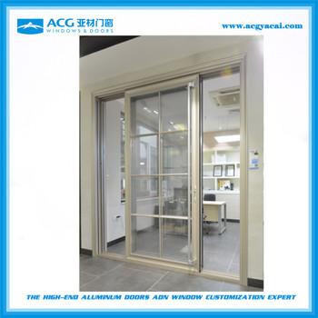 Commercial System Double Glass Sliding Door2 Panel Sliding Glass